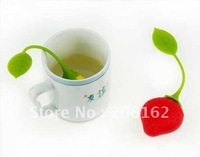 Brand New Strawberries Tea Bags Tea Strainers Silicone Teaspoon Filter Infuser Silica Gel Filtration