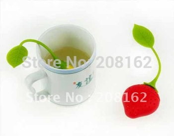 Strawberries Tea Bags Tea Strainers Silicone Teaspoon Filter Infuser Silica Gel Filtration
