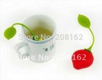 Strawberries Tea Bags Tea Strainers Silicone Teaspoon Filter Infuser Silica Gel Filtration