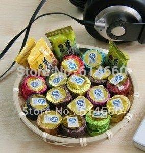 Buy 5 get 1 12pcs 4 flavors Yunnan Pu er tea candy type mini Tuocha Free