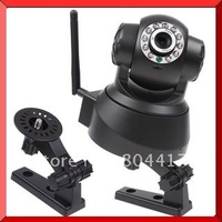 2015 New Arrive Black Wireless IP Network Pan/Tilt Security WIFI Audio CCTV 10 IR Webcam Color Camera, Drop Shipping