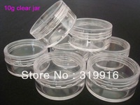 Free shipping , 10g  round small plastic bottle jars containers with transparent color for storage,100pc/lot  YZ-203