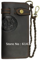 Free shippimg NEW ARRIVAL Vintage Genuine Leather Men's Wallet Purse crazy horse card ID holders men purses  A3377