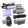 Electric Hair Roller Brush Comb 4in1 Rotating Brush Hair Comb With Retail Package 220V EU Plug Free Shipping