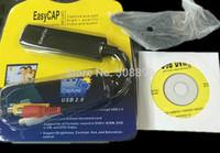 New 1pcs Easycap008 USB 2.0 Video TV DVD VHS Audio Capture Adapter 008 Free Driver