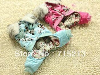Free shipping 2014 New XXL dog winter coat jacket bronzing 2XL Mickey four legged dog clothes