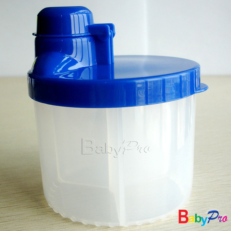 Free Shipping 12pcs/lot Comparted Baby Milk Powder Container Formula Dispenser 3 phase for Food Storage(China (Mainland))