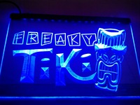 LM092- Freaky Tiki Bar Mask Pub Beer Neon Light Sign hang sign home decor shop crafts led sign