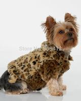 New Arrived Fashion Leopard Fur  Pet  Clothing  Dog Jacket  Teddy Poodle Clothes XS S M L XL XXL