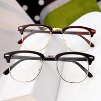 2014 Fashion kitty Myopia Metal Glasses Optics Frame Men Vintage Women Plain Mirror glass free shipping,hot sale. a78