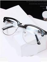 Vintage Fashion glasses oculos de sol 2014 Large Frame rivets Eyeglasses Frame brand Optical Frame For Glass KC Y239