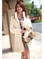 2014 female faux fur &    rabbit fur coat vest  winter long style