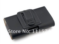 1PC Free Shipping Bulk Waist Hanged Leather Belt Holster Case Full Body Cases For iphone 5 5G Cell Phone Accessories