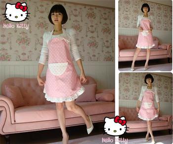 Free shipping latest design cotton cloth apron Korean aprons the fashion Polka Dot apron kitchen apron