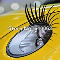 2pairs 3D Car Styling Car Decoration Headlight Eyelashes Sticker Eye Lash Decal Fits Any Car free shipping