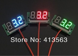 1PC DC 2.5V to 30V Red Digital Voltmeter Meter Power Monitor 2.5-30V Digital DC Voltmeter Panel Meter #00002 free shiping(China (Mainland))