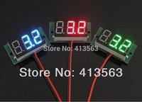 1PC  DC 2.5V to 30V Red Digital Voltmeter Meter Power Monitor 2.5-30V Digital DC Voltmeter Panel Meter   #00002 free shiping