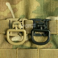10PCS/LOT Multi tactical 360 Rotation D ribbon ring grip Buckle MOLLE 8 Webbing Locking Carabiner vest clothing Backpack