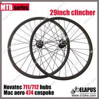 3k glossy/matte 29er carbon MTB wheels clincher depth 30mm thru axle front 15mm rear 142*12mm