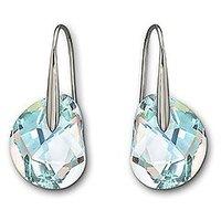 Wholesale Austrian Crystal Galet Light Azore Blue Pierced Earrings Free Shipping Sale
