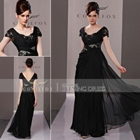 Coniefox Black Lace Graceful Fashion Lady's Formal Pageant Dresses 81285