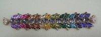 Free Shipping 4pcs/lot Hot Sale Popular Multicolour Leaf Bracelets Magnet Design Fashion Jewelry For Women