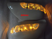 LED Dedicated rear-view mirror lights with cover, yellow LED turn signals, for LEXUS LS460 2006~ON and  LS600hL 2007~ON LHD