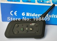2 x BT 1200M Motorcycle Helmet Bluetooth Intercom Headset Connects upto 6 Riders FREE SHIPPING(Pack of 2)