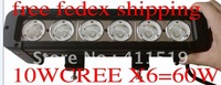 2pcs x   11 Inch USA10wx6 60W CREE LED Light Bar /off-road driving ATV SUV headlight  6061 Aluminum Housing,