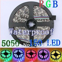 Waterproof 5M/lot SMD 3528 300LED RGB STRIPS Flexible lights Free Shipping