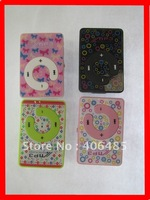 5pcs/lot free shipping MINI Flash Gift clip MP3 Player 4 color support 8GB Micro SD(TF) card slim (without usb earphone) car