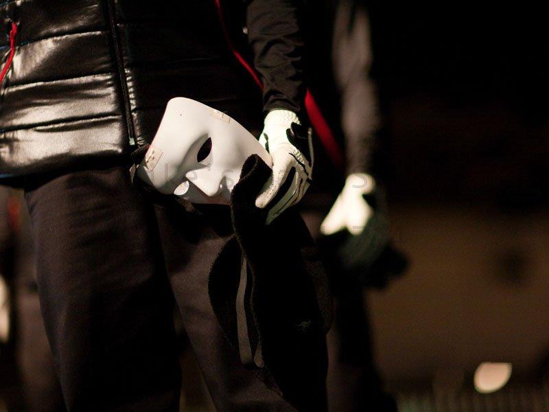 200 pcs/lot THIN BAND Jabbawockeez mask white hip-hop mask(China (Mainland))