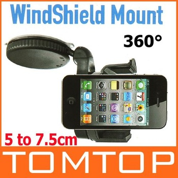 Universal Windshield Dashboard Car Holder Mount for iPhone 4 5 Mobile Phone Cellphone GPS PAD Accessories , Free / Drop Shipping