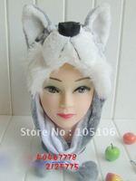 Mix Order Animal Caps Party Cartoon Hats Cap Winter Hat Birthday Plush Headgear Adult Huskyhusky Wolf