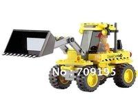 holiday sale Christmas gift Enlighten Child 8042 educational toys bulldozer KAZI building block sets,children toys free Shipping