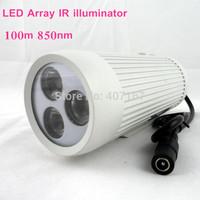 Array-infrared  LED barrel IR illuminator IR light LED lamp  with 100m and 850nm for cctv camera light compensation