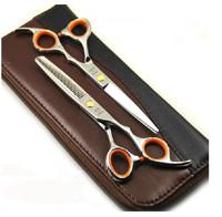 "6"" Cobalt steels Professional Barber Hair scissors shears Cutting and Thinning Scissors Set"
