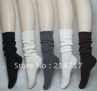 Freeshipping Crew Socks 2013 Brand NEW Tops High Neon Harajuku Socks Women's Health Care Cotton Bamboo Ruffle Socks