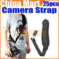 Pro Black Quick Rapid Sling Shoulder Neck Strap Belt for Digital SLR DSLR Camera 25pcs/lot + Free Express