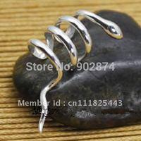 2pcs fashion Ear Cuff 925 Sterling Silve Ear Clips Snake Non-pierced Earrings jewelry gifts present for men/women Brand New 11#