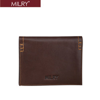 Free Shipping Brand new Milry Men 100% Genuine cow Leather Wallet  Purse Money clip bags C0105