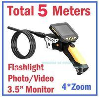 Free Shipping!!Longer 5M Dia 8.2mm Tube Snake Camera Endoscope Inspection Borescope DVR