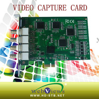 4 channel  H.264 PCI-E video realtime capture card 9X
