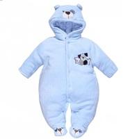 Baby Romper Brand New 2014 Winter :Cotton Padded Coats Children Child's Jumpsuit Windproof Rompers Cartoon Bears Print Baby Wear