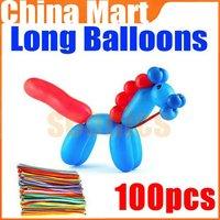 Birthday Animal Tying Making Mixed Colors Long Balloons Assorted Party 100pcs/lot + Free Shipping + Drop Shipping