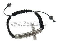 Wholesale cross shape Shamballa Bracelet for Girl Jewelry
