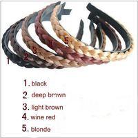 Wholesales Korean Fashion Style Wig Braid Headband Hairband Hair Hlip Hair Accessories Free Shipping 10pcs/lot