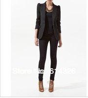 2014 New Spring Fashion Winter Women Slim Blazer Coat Casual Jackets Elegant Brand Designer Blazer One Button Suit OL Outerwear