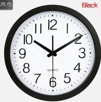 "M24 12"" quartz sweep movement living mute wall clock fashion design brief living room wall clock"
