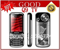 New Unlocked GSM Quad Band Dual SIM TV Cell Phone Q9 with Russian Keyboard Free shipping